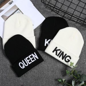 Bonnet assortis pour couple king queen