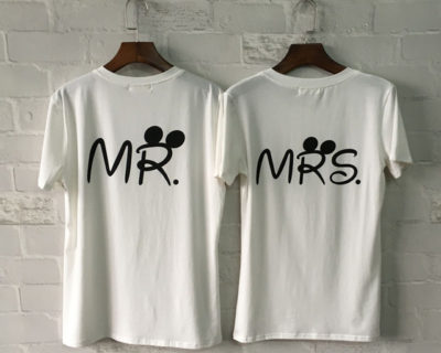 T-shirt assortis couple