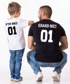 T-shirt assortis Père Fils assortis Grand mec P'tit mec