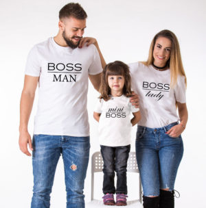 T-shirt assorti famille de boss (5)