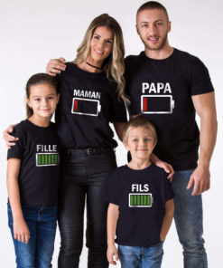 T-shirt assorti maman fille batterie (1)