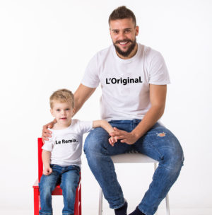 T-shirt assorti parent enfant L'original Le remix (2)