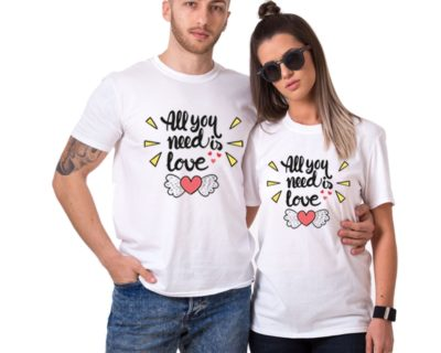t-shirt couple assortis