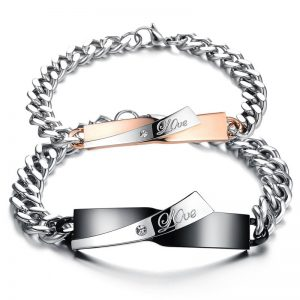 bracelets assortis couple