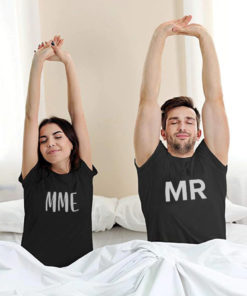 "T-shirt couple ""Mr & Mrs""24"