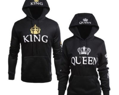 "Sweat assortis pour couple "" King Queen"" mod4 - My RoxXe"