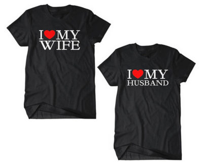 "T-shirt couple ""I love My wife / Husband"""