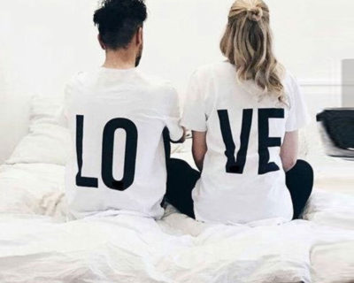 "T-shirt couple ""Love"""