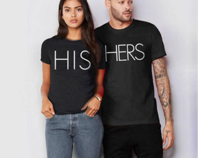 "T-shirt couple ""His/ Hers"""
