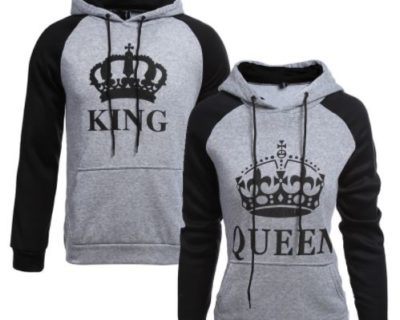 "Sweat assortis pour couple "" King Queen"" mod5 - My RoxXe"