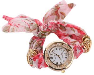 Montre foulard diamants 01