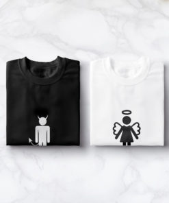 "T-shirt couple ""Devil Angel""2"