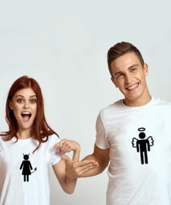"T-shirt couple ""Devil Angel""3"