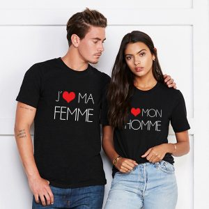 "T-shirt couple ""I love My wife Husband""2"