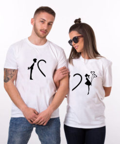 "T-shirt couple ""Love3"""