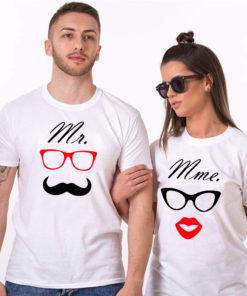 "T-shirt couple ""Mr & Mrs mod2"" 2"