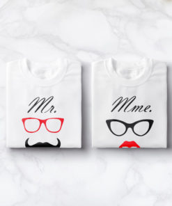 "T-shirt couple ""Mr & Mrs mod2""3"