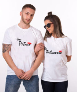 "T-shirt couple ""Prince Princess"" 2"