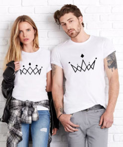 "T-shirt couple ""couronne"" 2"