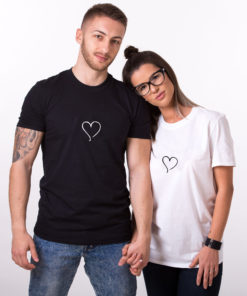 "T-shirt couple "" coeur""2"