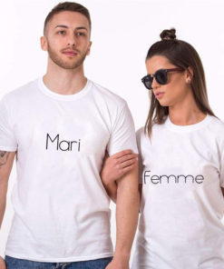 T-shirt couple Wife Husband 2