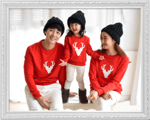 sweat assortis famille cerf