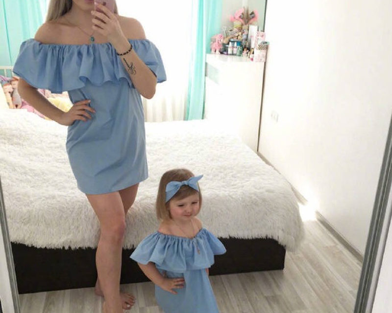 Robes assortis mère fille Moly