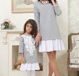 Robes assortis – Mère Fille – Chandelle