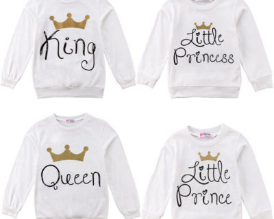 Sweat assortis Famille – King Queen Prince Princess