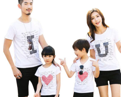 Tee-shirt – assortis Famille – I Love you
