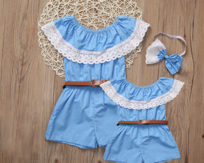 Robes assortis – Mère Fille – Dentelle Epaule