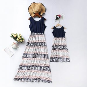 Robes assortis mère fille Moly (1)