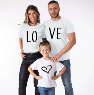 T-shirt - assortis Famille - Love (1)