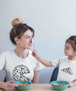 t-shirt Parent enfant assortis - Pizza (2)