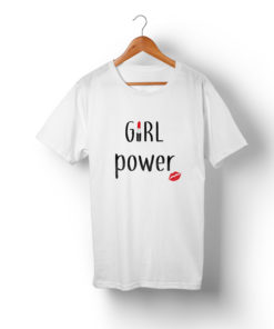 t-shirt mère fille assortis - Girl power ! F