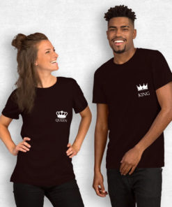 T-shirt King Queen côté coeur3
