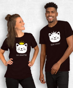 T-shirt couple – Son chat sa chatte 2