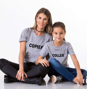 T-shirt assortis parents enfants COPIER COLLER (5)